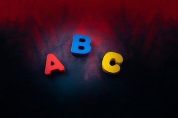 Fototapeta Colorful ABC  Letters made of wood