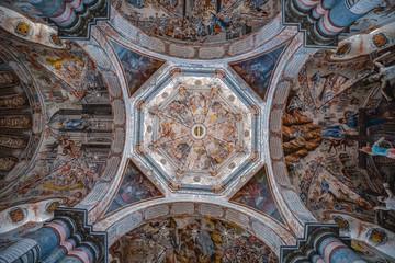 Beautiful interior of the Sanctuary of Atotonilco in Guanajuato, Mexico Wall mural