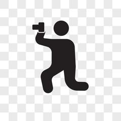 Photo vector icon isolated on transparent background, Photo logo design
