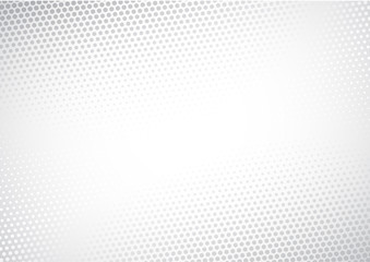 Modern Halftone white and grey background. Decorative web concept, banner, layout, poster. Vector illustration