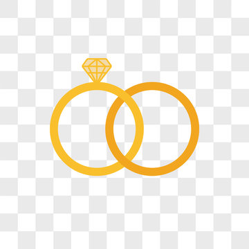Marriage vector icon isolated on transparent background, Marriage logo design