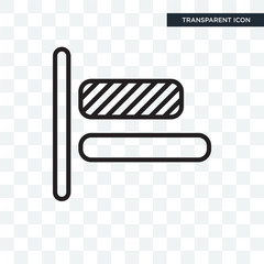 Left alignment vector icon isolated on transparent background, Left alignment logo design