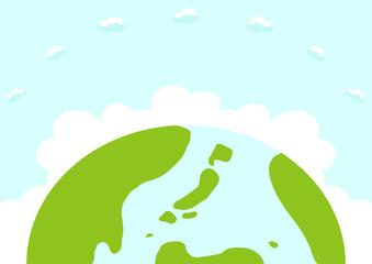 地球 手描きイラスト