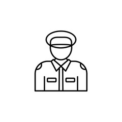 policeman icon. Element of crime and punishment icon for mobile concept and web apps. Thin line policeman icon can be used for web and mobile