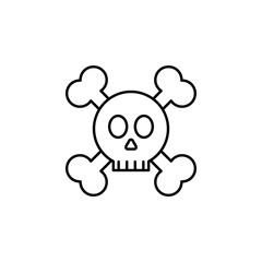 skull and Bones icon. Element of crime and punishment icon for mobile concept and web apps. Thin line skull and Bones icon can be used for web and mobile
