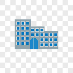 Hotel vector icon isolated on transparent background, Hotel logo design