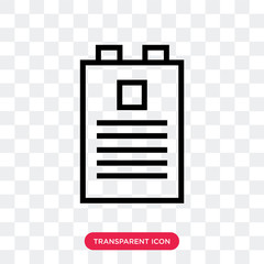 Documents vector icon isolated on transparent background, Documents logo design