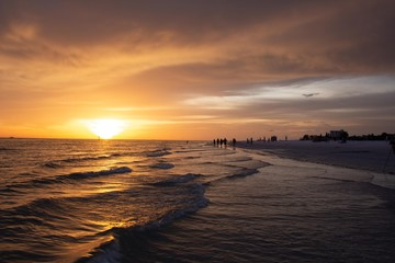 Beautiful sunset on Siesta Key, Florida