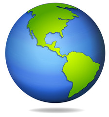 A globe on white background