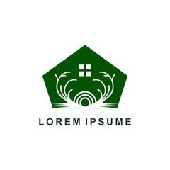 natural wood logo. nature tree icon symbol, organic farm vector illustration