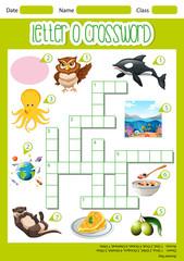 Letter O crossword template