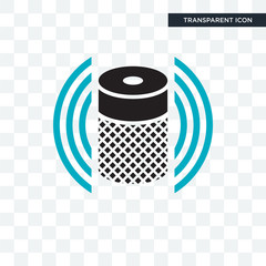 Smart Speaker vector icon isolated on transparent background, Smart Speaker logo design