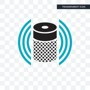 Smart Speaker vector icon isolated on transparent background, Smart Speaker logo design