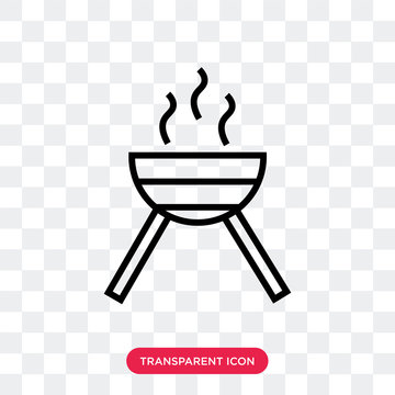 Barbecue with Wheels vector icon isolated on transparent background, Barbecue with Wheels logo design