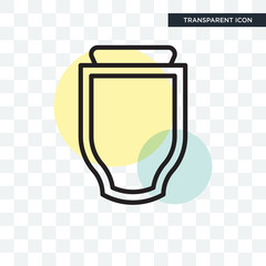 Badge vector icon isolated on transparent background, Badge logo design