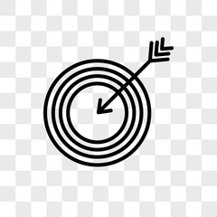Bullseye vector icon isolated on transparent background, Bullseye logo design