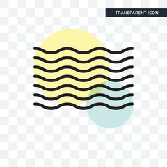Waves vector icon isolated on transparent background, Waves logo design
