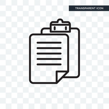 Paste clipboard vector icon isolated on transparent background, Paste clipboard logo design
