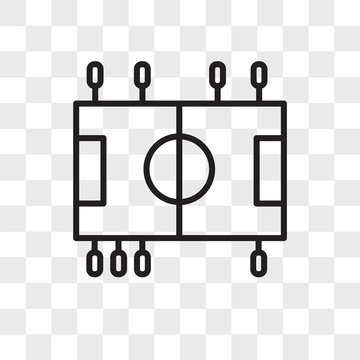 Table Soccer vector icon isolated on transparent background, Table Soccer logo design