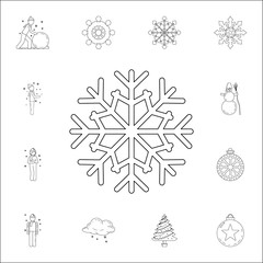 snowflake icon. Winter icons universal set for web and mobile