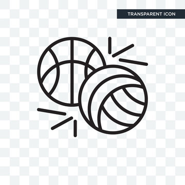 Sports vector icon isolated on transparent background, Sports logo design