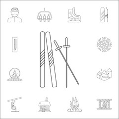 skiing icon. Winter icons universal set for web and mobile