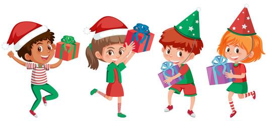 A set of christmas kids