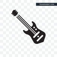 Electric guitar vector icon isolated on transparent background, Electric guitar logo design