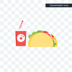 Taco vector icon isolated on transparent background, Taco logo design