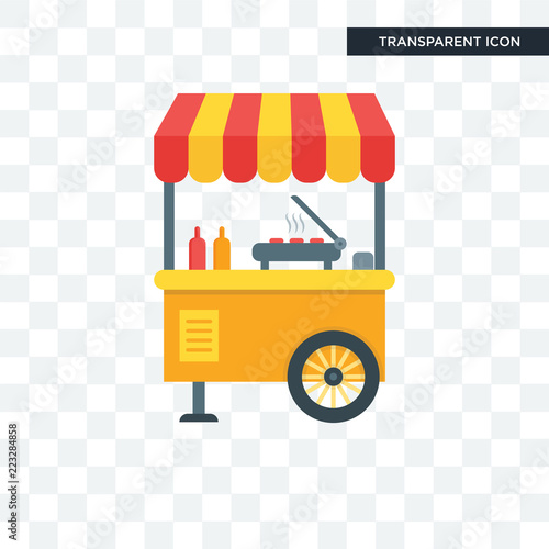 Street food vector icon isolated on transparent background