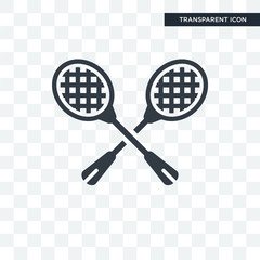 Racket vector icon isolated on transparent background, Racket logo design