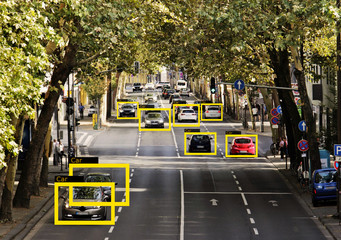 Machine Learning and AI to Identify  Objects technology, Artificial intelligence concept. Image processing, Recognition technology. .