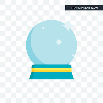 Crystal ball vector icon isolated on transparent background, Crystal ball logo design