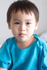 Sick children in hospital