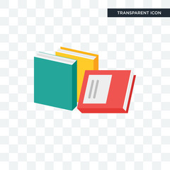 Books vector icon isolated on transparent background, Books logo design