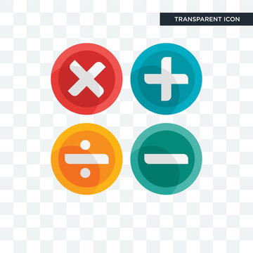 Maths vector icon isolated on transparent background, Maths logo design