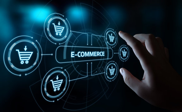 e-commerce add to cart  online shopping business technology internet concept