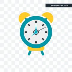 Alarm clock vector icon isolated on transparent background, Alarm clock logo design