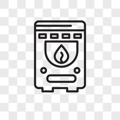 Boiler vector icon isolated on transparent background, Boiler logo design