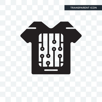 Smart clothing vector icon isolated on transparent background, Smart clothing logo design