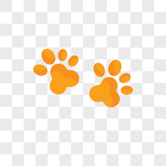 Paw vector icon isolated on transparent background, Paw logo design