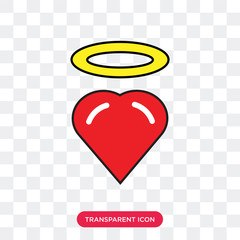 Heart vector icon isolated on transparent background, Heart logo design