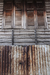 old wooden wall of a house