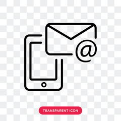 Email vector icon isolated on transparent background, Email logo design