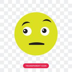 Suspicious vector icon isolated on transparent background, Suspicious logo design
