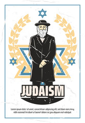 Judaism religion and Jewish rabbi