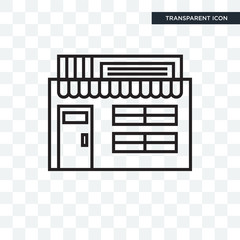 Shop vector icon isolated on transparent background, Shop logo design