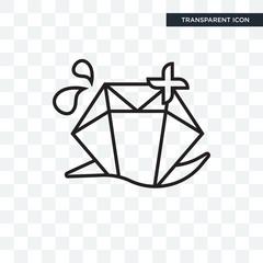 Diamond vector icon isolated on transparent background, Diamond logo design