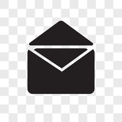 Mail vector icon isolated on transparent background, Mail logo design