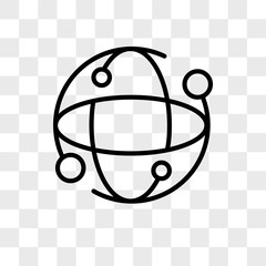 Earth globe vector icon isolated on transparent background, Earth globe logo design